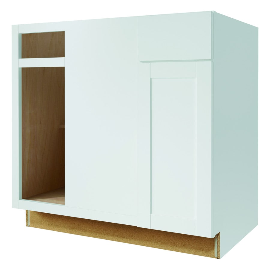 Diamond Now Arcadia 36 In W X 35 H 23 75 D Truecolor White Blind Corner Base Cabinet