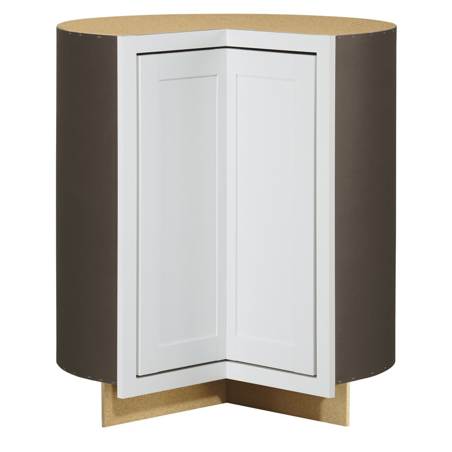 Diamond NOW Arcadia 36-in W x 35-in H x 23.75-in D TrueColor White Shaker Lazy Susan Corner Base Cabinet