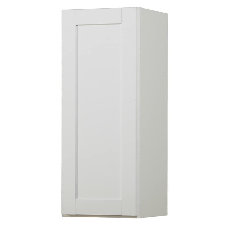 Diamond NOW Arcadia 15-in W x 30-in H x 12-in D White Shaker Door Wall Cabinet