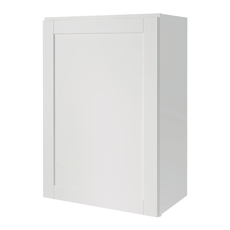Diamond Now Arcadia 24 In W X 30 H 12 D Truecolor White Door Wall Cabinet