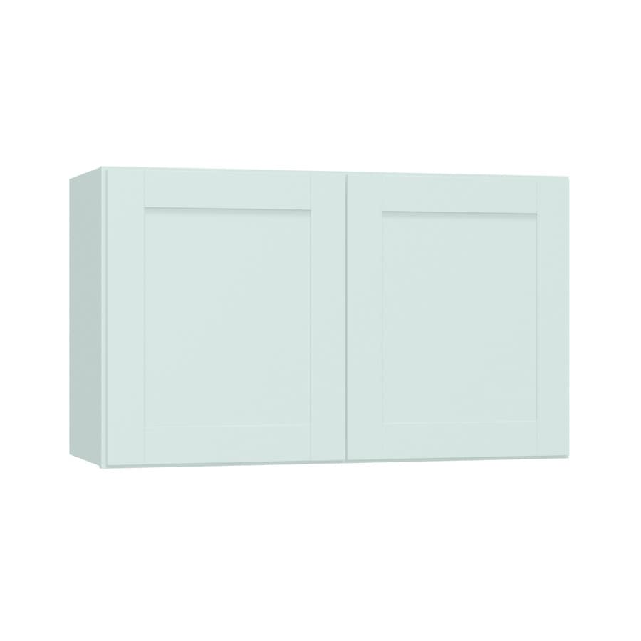 Diamond NOW Arcadia 30-in W x 18-in H x 12-in D White Shaker Door Wall Cabinet