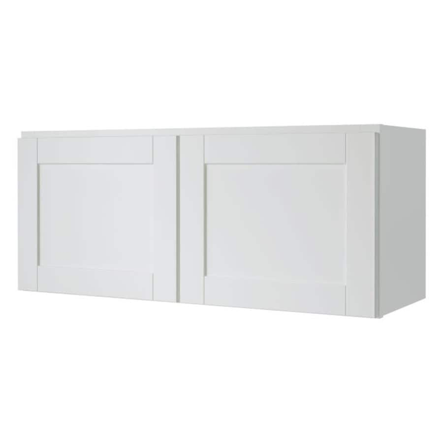 Diamond NOW Arcadia 33-in W x 14-in H x 12-in D White Shaker Door Wall Cabinet