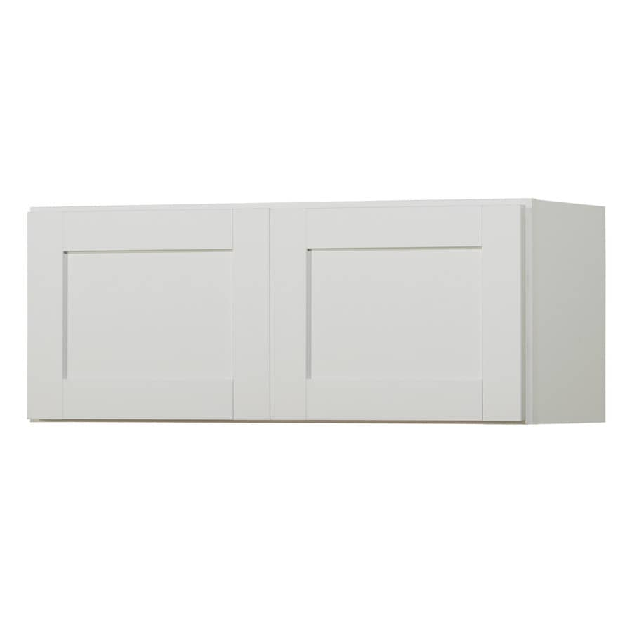 Diamond NOW Arcadia 36-in W x 12-in H x 12-in D White Shaker Door Wall Cabinet