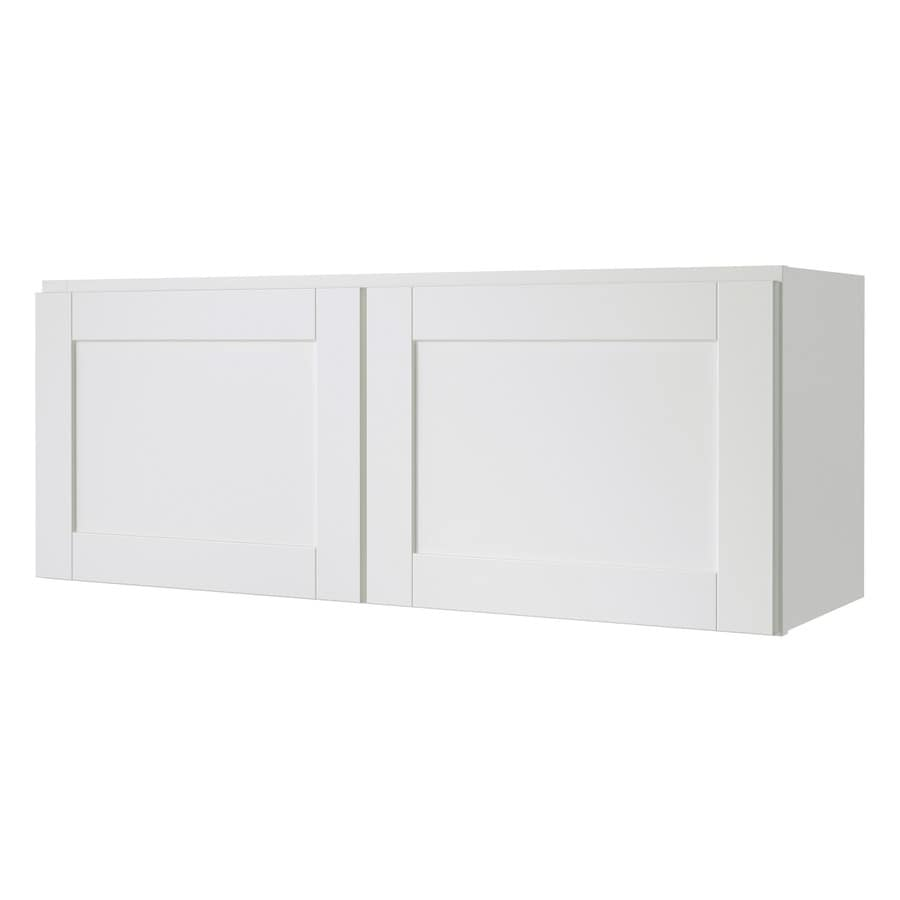 Diamond NOW Arcadia 36-in W x 14-in H x 12-in D White Shaker Door Wall Cabinet