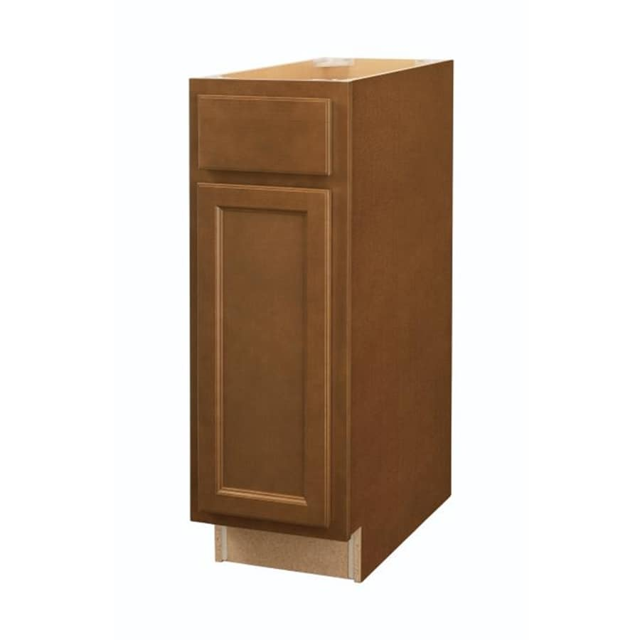 Diamond NOW Weyburn 12-in W x 35-in H x 23.75-in D Brown Door and Drawer Base Cabinet