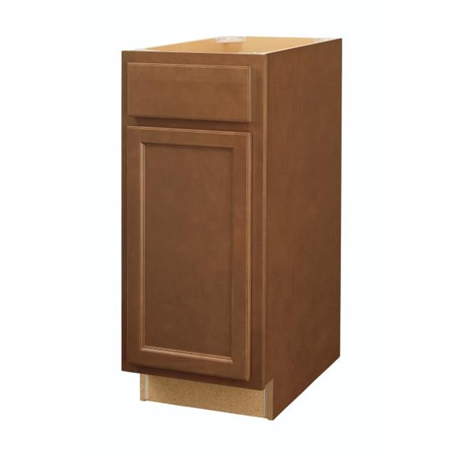 Shop diamond now weyburn 15 in w x 35 in h x d brown door and drawer base cabinet at Kitchen cabinets 75 off