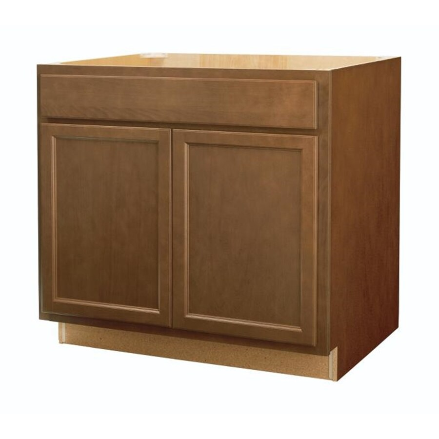 Shop diamond now weyburn 36 in w x 35 in h x d brown sink base cabinet at Kitchen cabinets 75 off