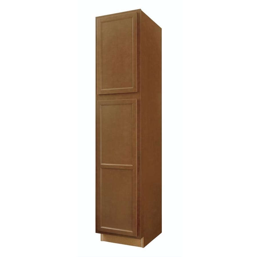 Diamond NOW Weyburn 18-in W x 84-in H x 23.75-in D Brown Door Pantry Cabinet
