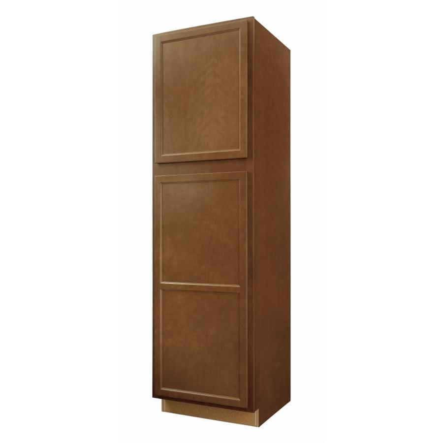 Diamond NOW Weyburn 24-in W x 84-in H x 23.75-in D Brown Door Pantry Cabinet