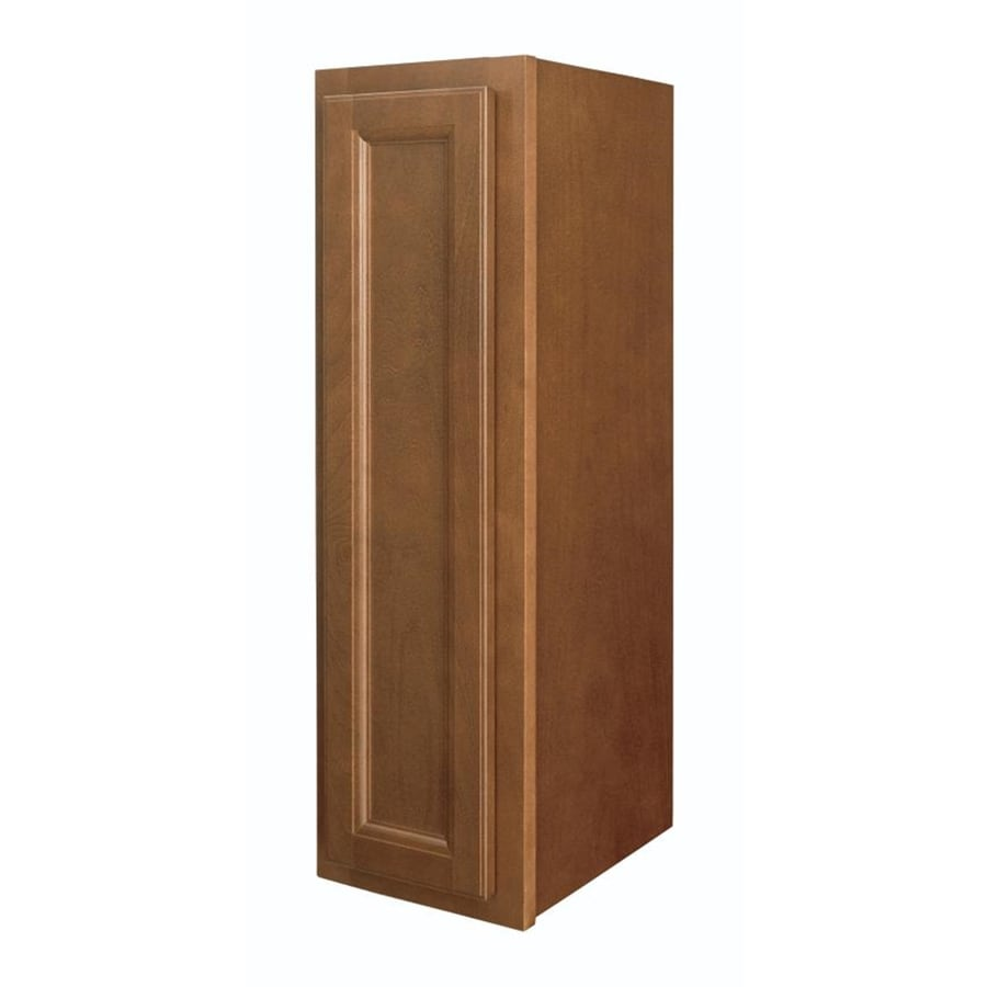 Shop diamond now weyburn 9 in w x 30 in h x 12 in d brown for Kitchen cabinets lowes with geranium wall art