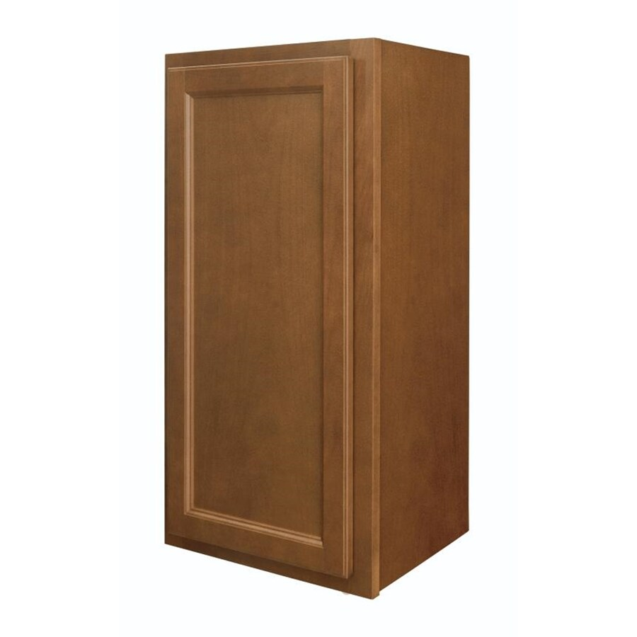 Shop diamond now weyburn 15 in w x 30 in h x 12 in d brown for Kitchen cabinets 30 x 18