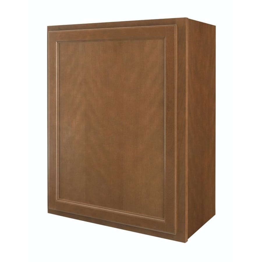 Diamond NOW Weyburn 24-in W x 30-in H x 12-in D Brown Door Wall Cabinet