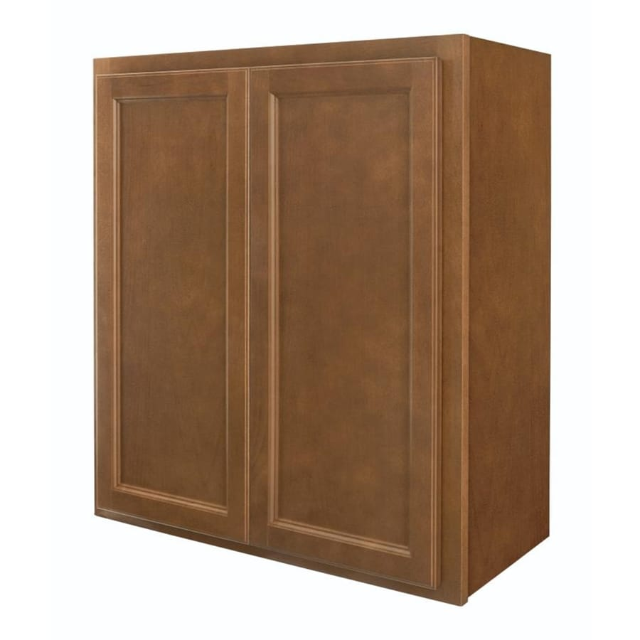 Diamond NOW Weyburn 27-in W x 30-in H x 12-in D Brown Door Wall Cabinet