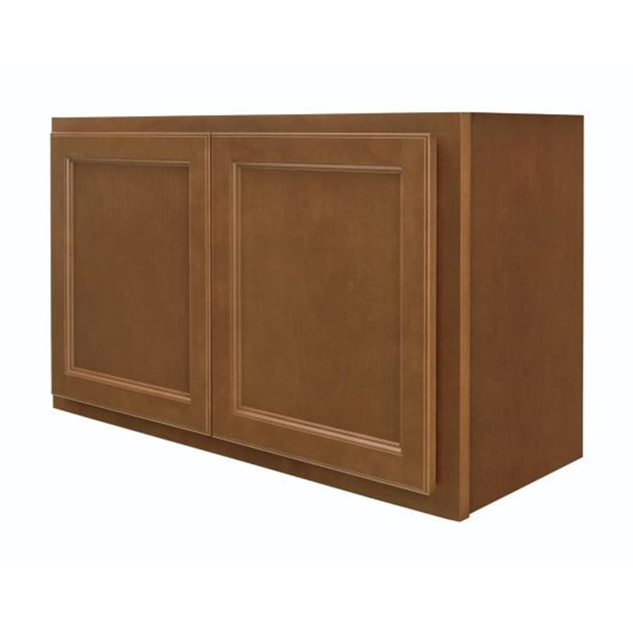 Diamond NOW Weyburn 30-in W x 18-in H x 12-in D Brown Door Wall Cabinet