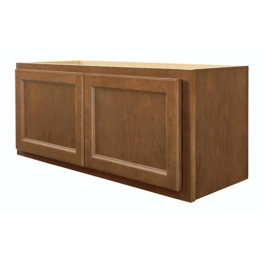 Diamond NOW Weyburn 33-in W x 14-in H x 12-in D Brown Door Wall Cabinet