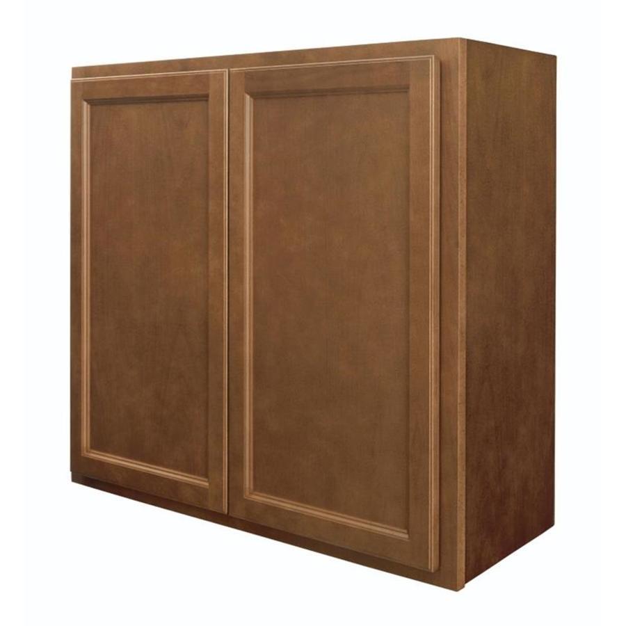 Diamond NOW Weyburn 33-in W x 30-in H x 12-in D Brown Door Wall Cabinet
