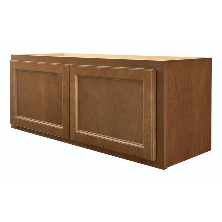 Diamond NOW Weyburn 36-in W x 14-in H x 12-in D Brown Square Door Wall Cabinet