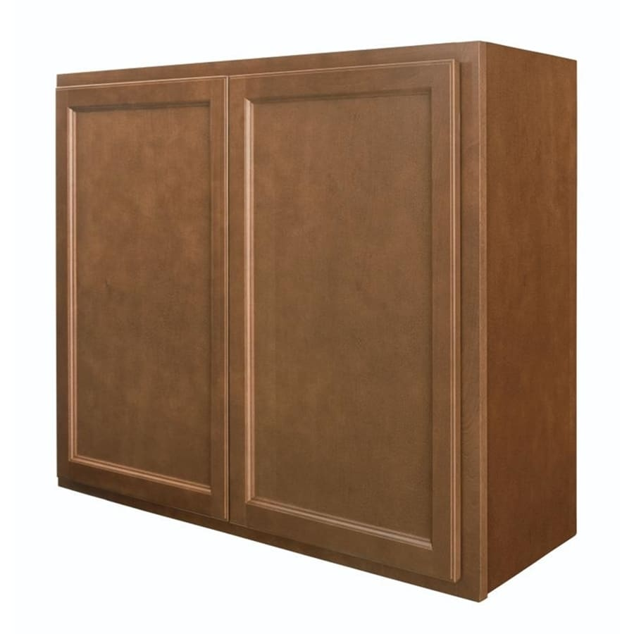 Diamond NOW Weyburn 36-in W x 30-in H x 12-in D Brown Door Wall Cabinet
