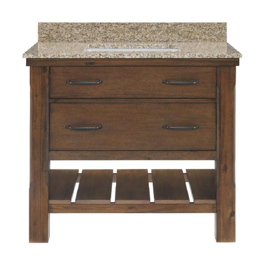 Small Bathroom Vanity With Granite Top : Patmore mocha glaze undermount single sink bathroom
