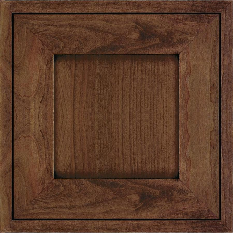 Diamond Intrigue Amelia 14 75 In X Mustang Stained Cherry Square Cabinet Sample