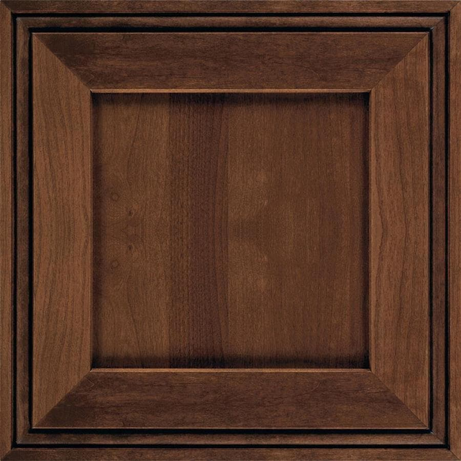 Diamond Intrigue Delta 14.75-in x 14.75-in Mustang Amaretto Creme Stained Cherry Square Cabinet Sample