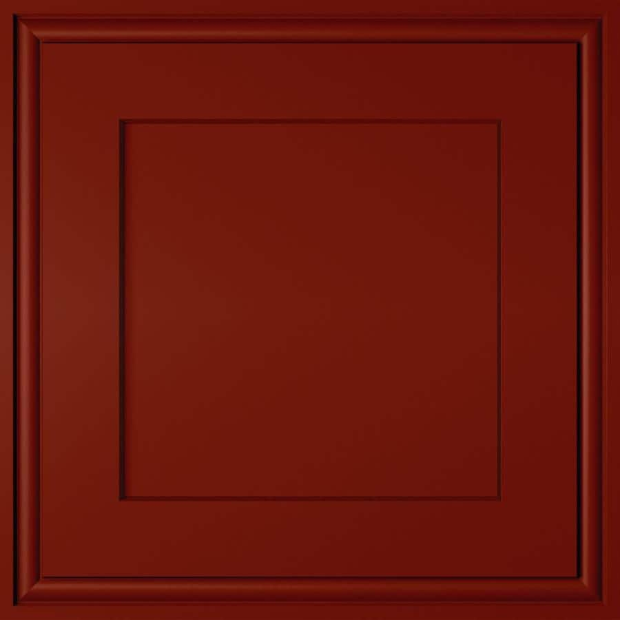 Diamond Intrigue Delta 14.75-in x 14.75-in Fired Brick Painted Maple Square Cabinet Sample