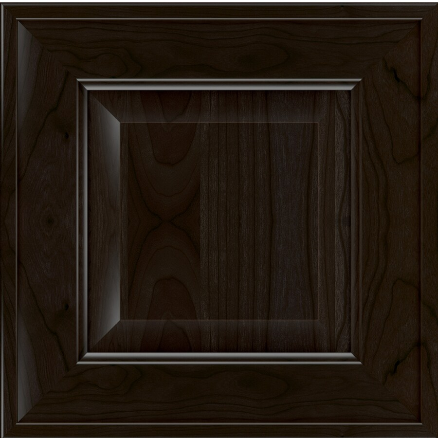 Diamond Intrigue Dulcet 14.75-in x 14.75-in Stout Stained Cherry Square Cabinet Sample