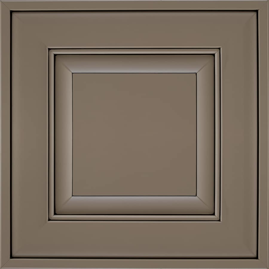 Diamond Intrigue Dulcet 14.75-in x 14.75-in Foothills Smoked Cavier Painted Maple Square Cabinet Sample