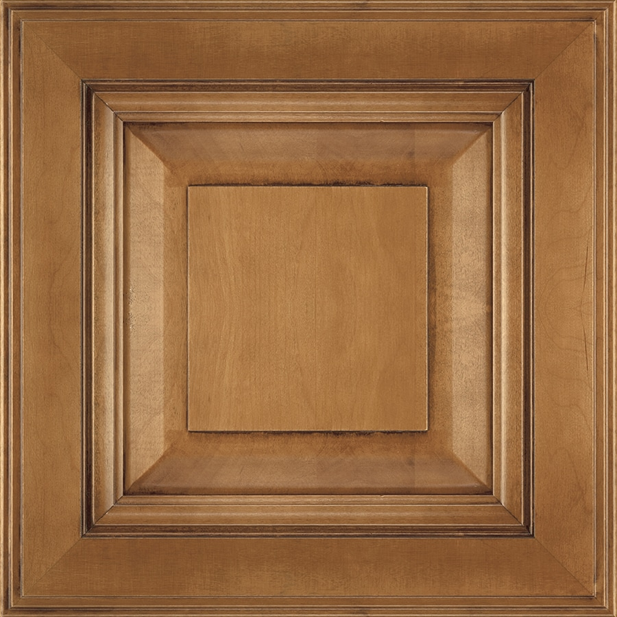 Diamond Intrigue Lindi 14.75-in x 14.75-in Rye Toasted Almond Stained Maple Square Cabinet Sample