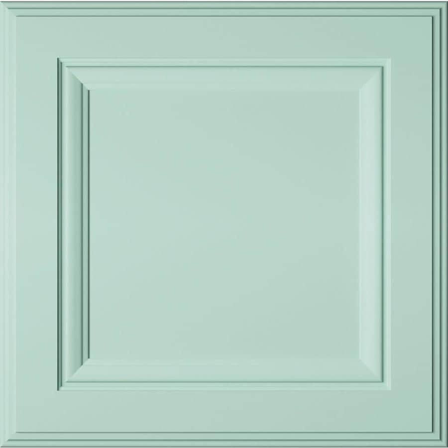Diamond Intrigue Lindi 14.75-in x 14.75-in Waterscape Painted Maple Square Cabinet Sample