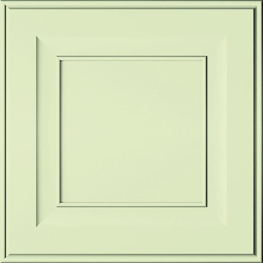 Diamond Intrigue Lisette 14.75-in x 14.75-in Celery Painted Maple Square Cabinet Sample