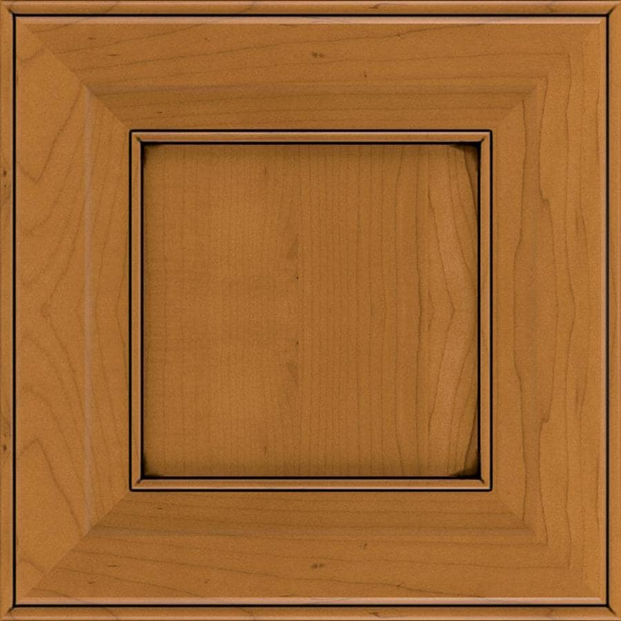 Diamond Intrigue Lisette 14.75-in x 14.75-in Natural Toasted Almond Stained Maple Square Cabinet Sample