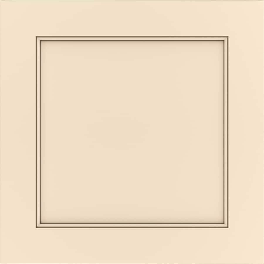 Diamond Intrigue Paloma 14.75-in x 14.75-in Pure Linen Nougat Painted Maple Square Cabinet Sample