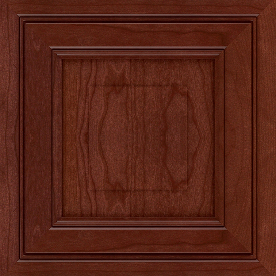 Diamond Intrigue Winona 14.75-in x 14.75-in Marsala Stained Cherry Square Cabinet Sample