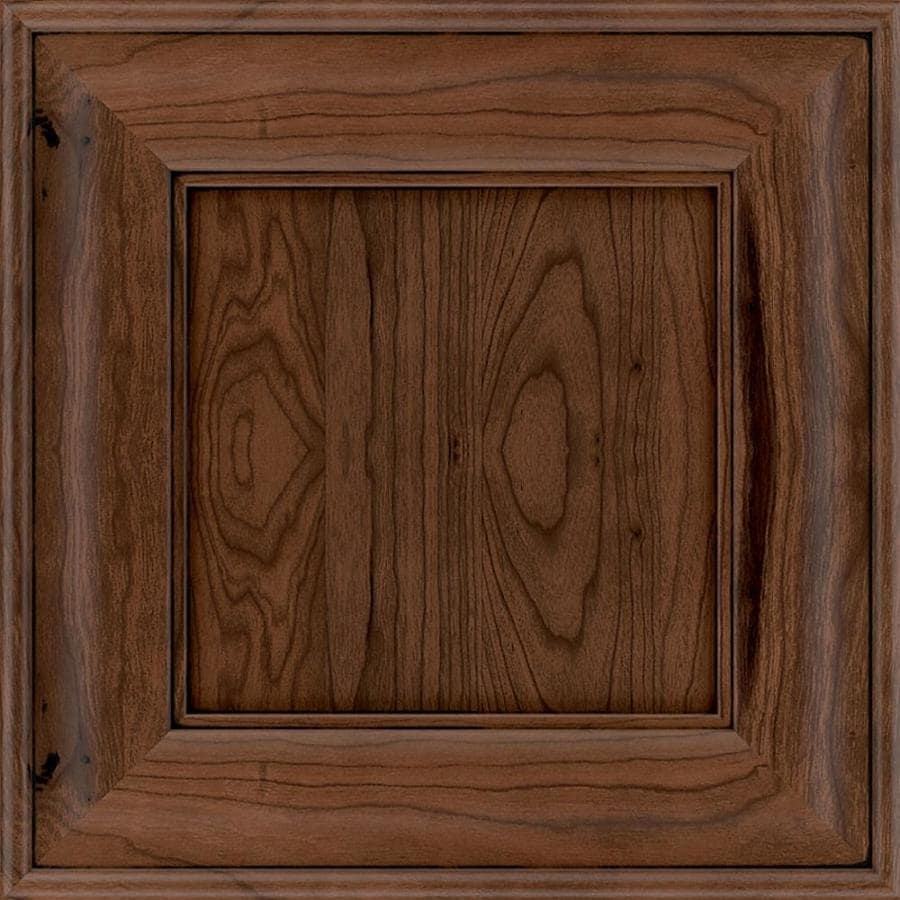 Diamond Reflections Delamere 14.75-in x 14.75-in Black Forest Stained Cherry Square Cabinet Sample