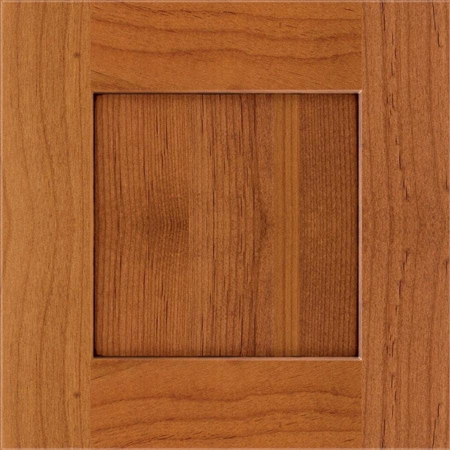 Diamond Reflections Gresham 14.75-in x 14.75-in Whiskey Black Stained Alder Shaker Cabinet Sample