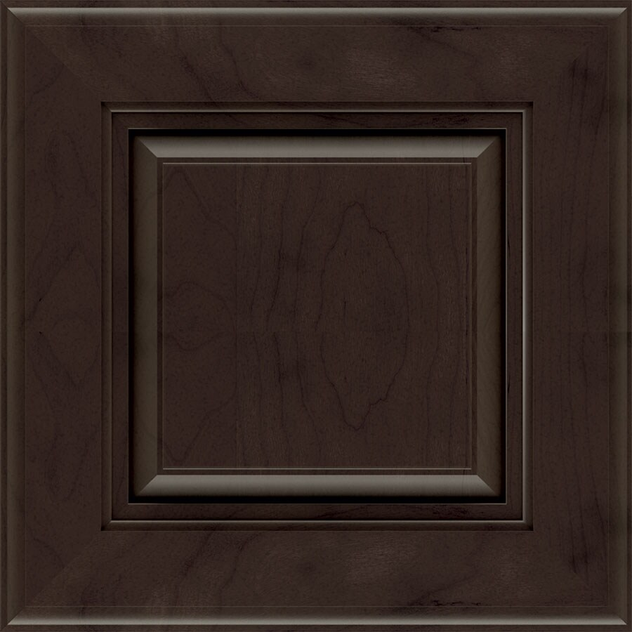 Diamond Prelude Lamar 14.75-in x 14.75-in Thatch Stained Cherry Square Cabinet Sample