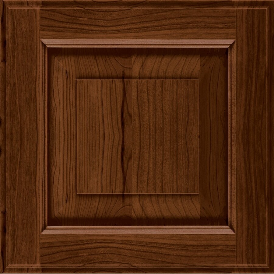 Diamond Reflections Louden 14.75-in x 14.75-in Black Forest Stained Cherry Square Cabinet Sample