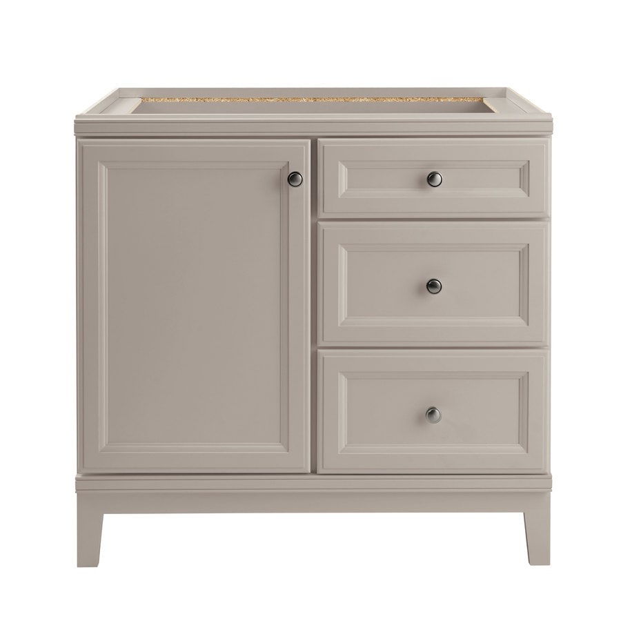 Diamond Now Calhoun 36 In Cloud Gray Bathroom Vanity Cabinet In The Bathroom Vanities Without Tops Department At Lowes Com