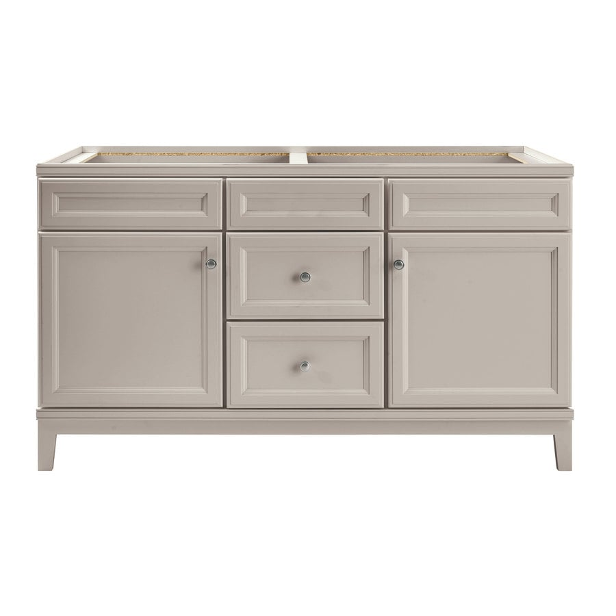 Diamond Freshfit Calhoun 60 In Cloud Gray Bathroom Vanity Cabinet