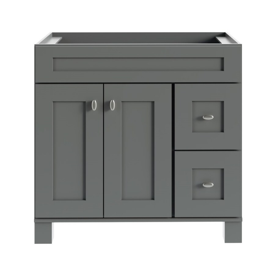 Diamond Now Palencia 36 In Moonstone Bathroom Vanity Cabinet In The Bathroom Vanities Without Tops Department At Lowes Com