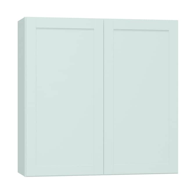 Diamond Now Arcadia 36 In W X 36 In H X 12 In D Truecolor White Door Wall Stock Cabinet In The Stock Kitchen Cabinets Department At Lowes Com