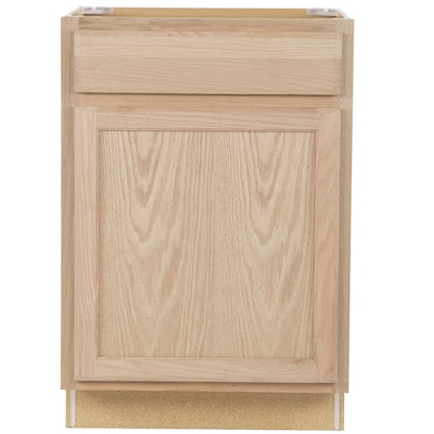 Project Source Unfinished 24 In Natural Bathroom Vanity Cabinet In The Bathroom Vanities Without Tops Department At Lowes Com
