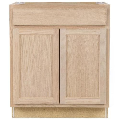 Project Source Unfinished 30-in Natural Bathroom Vanity ...