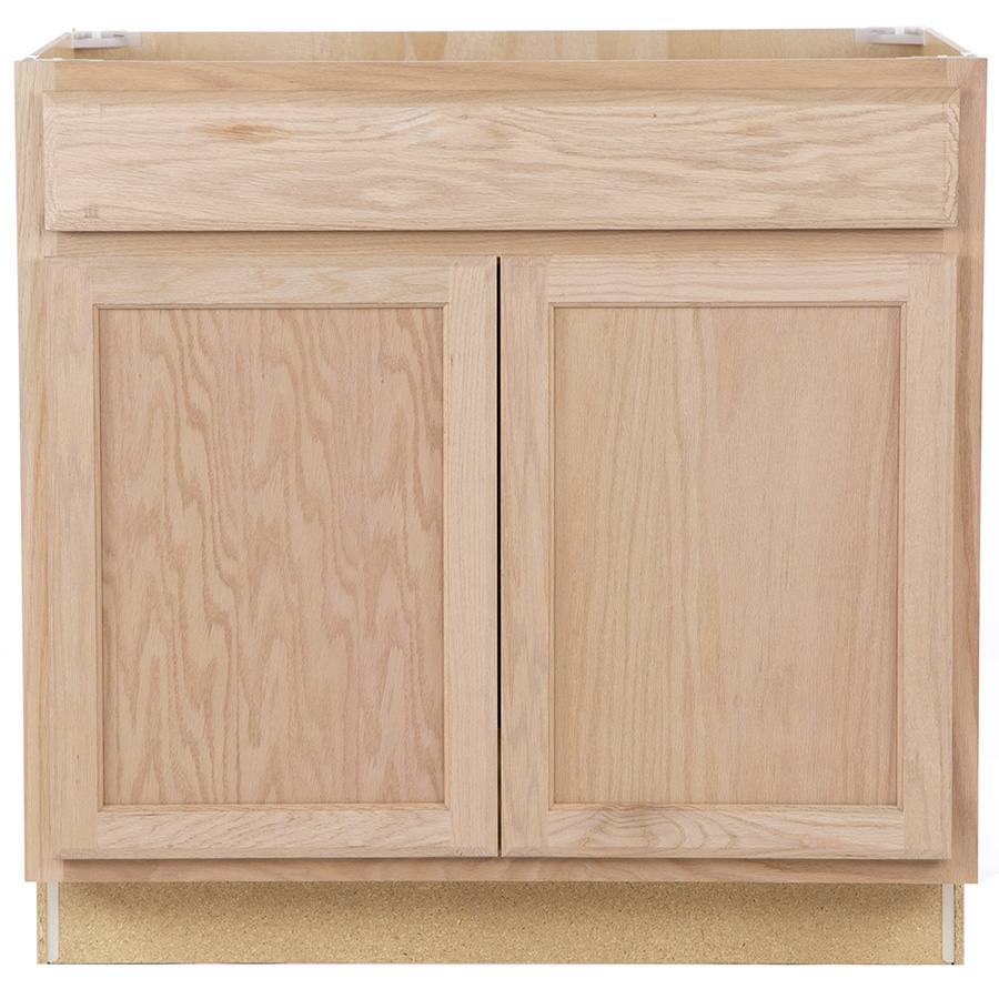 Project Source Unfinished 36 In Natural Bathroom Vanity Cabinet In The Bathroom Vanities Without Tops Department At Lowes Com