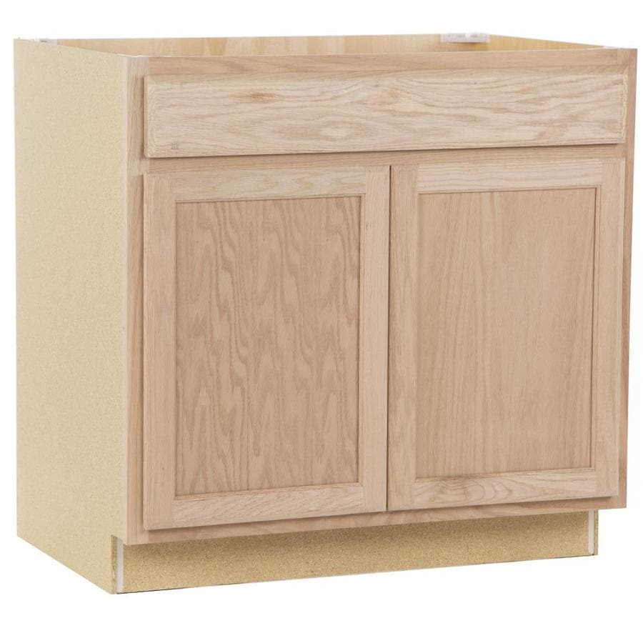 Project Source Unfinished 36 In Natural Bathroom Vanity Cabinet At