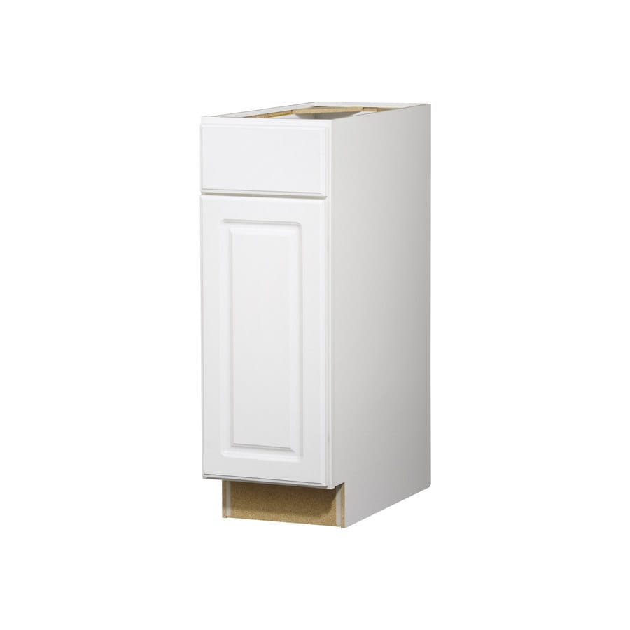 Diamond NOW Concord 12-in W x 35-in H x 23.75-in D White Door and Drawer Base Cabinet