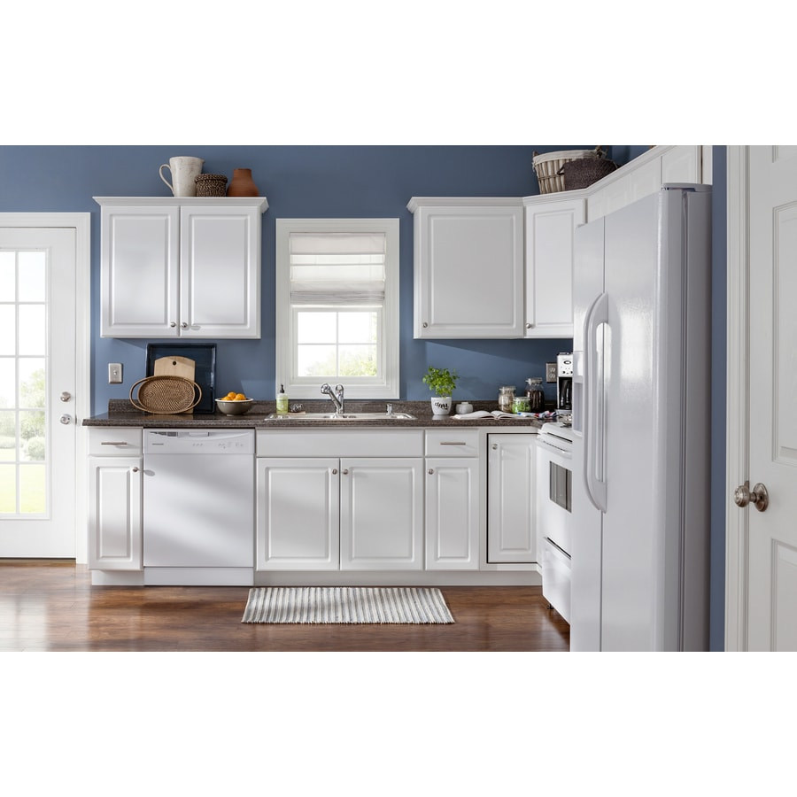 Kitchen Classics Concord 15 In W X 35 In H X 23 75 In D White Door And Drawer Base Stock Cabinet In The Stock Kitchen Cabinets Department At Lowes Com