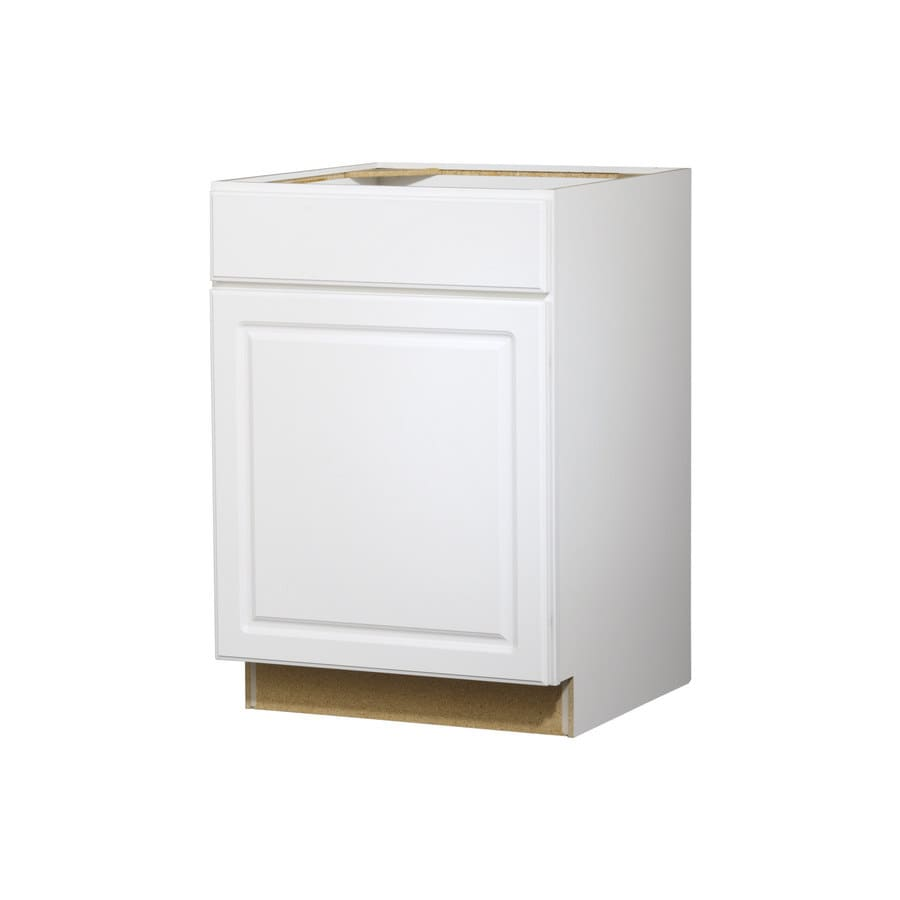 Kitchen Classics 35-in H x 24-in W x 24-in D Concord White Door and Drawer Base Cabinet
