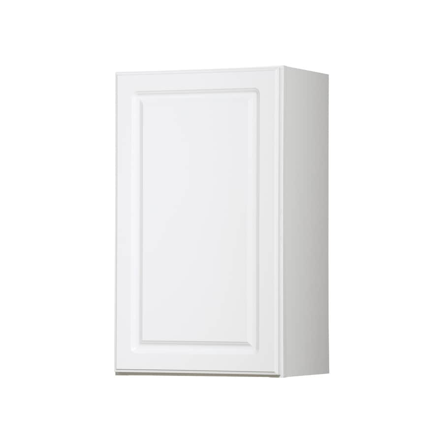 Diamond NOW Concord 18-in W x 30-in H x 12-in D White Door Wall Cabinet
